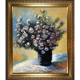 Claude Monet 'Vase of Flowers' Hand Painted Oil Reproduction