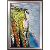 Claude Monet 'Cliff at Dieppe' Hand Painted Oil Reproduction
