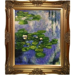 Claude Monet 'Water Lilies' (vertical) Hand Painted Oil Reproduction