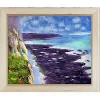 Claude Monet 'Cliff near Dieppe' Hand Painted Oil Reproduction