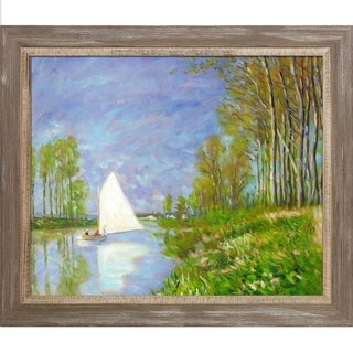 Claude Monet 'Small Boat on the Small Branch of the Seine at Argenteuil' Hand Painted Oil Reproduction