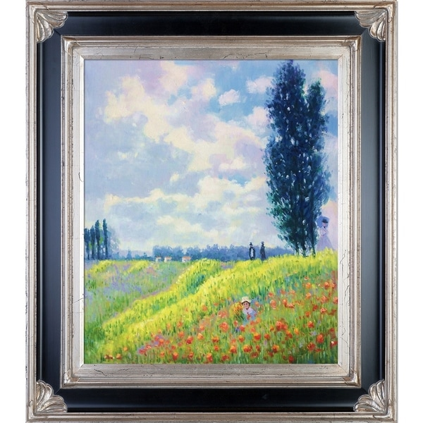 Claude Monet 'Walk in the Meadows at Argenteuil' Hand Painted Oil Reproduction