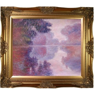 Claude Monet 'Misty Morning on the Seine' (pink) Hand Painted Oil Reproduction