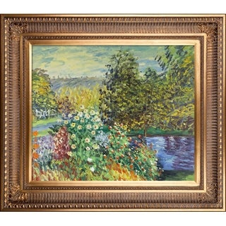 Claude Monet 'Corner of the Garden at Montgeron' Hand Painted Oil Reproduction