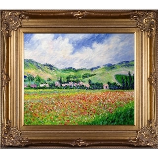 Claude Monet 'Poppy Field near Giverny' Hand Painted Oil Reproduction