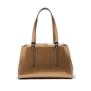 MKF Collection by Mia K Farrow Abree Patent Satchel Handbag