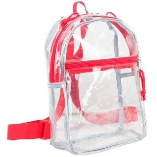 Eastsport 100% Clear Mini Backpack with Adjustable Straps
