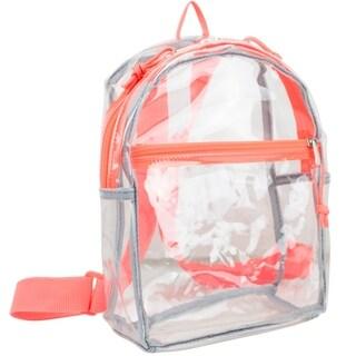 Eastsport 100% Transparent Clear Backpack with Adjustable Straps