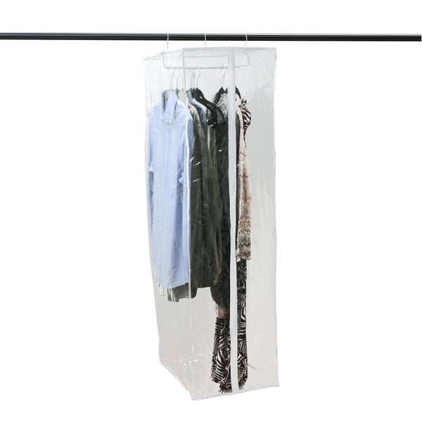 Shop Crystal Clear Pvc Portable Garment Closet Free Shipping On
