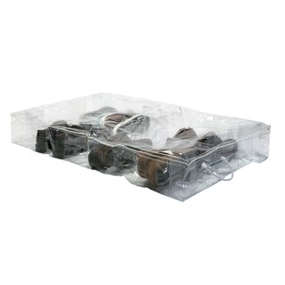 Crystal Clear PVC 16 Pair Under Bed Shoe Organizer