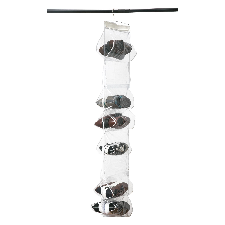 Kennedy Crystal Clear PVC 18 Shelf Shoe Organizer (18 She...
