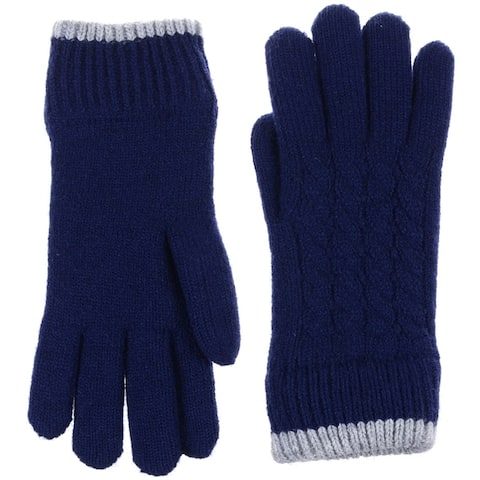 cb333a67c Women Cable Ultra Warm Soft Plush Faux Fur Fleece Lined Knit Gloves