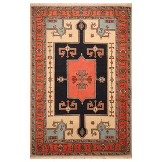 Handmade Herat Oriental Persian Hand-Knotted Tribal Ardabil Wool Rug (4'5 x 6'6)