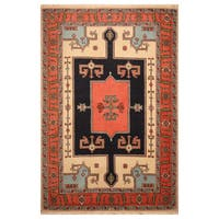 Handmade Herat Oriental Persian Hand-Knotted Tribal Ardabil Wool Rug (4'5 x 6'6) - 4'5 x 6'6