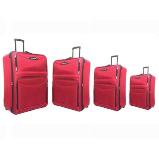 """Hercules Time Square Collection 31"""" 28"""" 25"""" 21"""" Expandable Upright Luggage Four Piece Sets"""