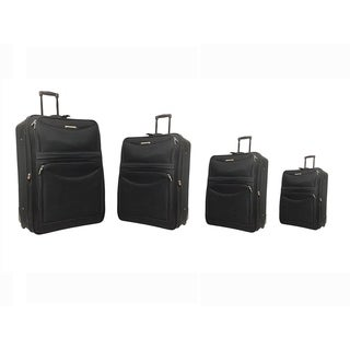 "Hercules Time Square Collection 31"" 28"" 25"" 21"" Expandable Upright Luggage Four Piece Sets"
