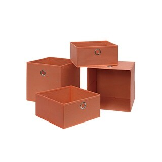 Foldable Storage Drawer /Tray 4-Pc (Salmon)