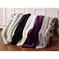 Animal Feel Faux Fur Area Rug with Suede Backing