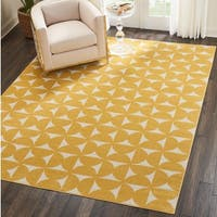 Nourison Harper Yellow Geometric Area Rug (8' x 10')