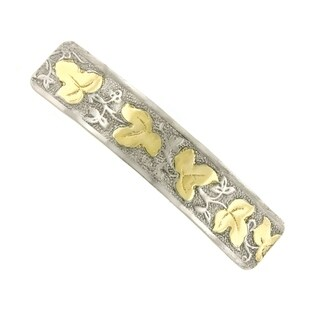 1928 Jewelry Silver Tone and Gold Tone Hair Barrette