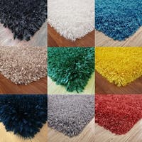 3 Inch Shag Rug with 3 Type Yarns with Cotton Backing - 5' x 7'