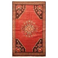 Handmade Herat Oriental Persian Hand-Knotted Semi-Antique Tribal Balouchi 1940's Wool Rug - 3'9 x 6'3 (Iran)
