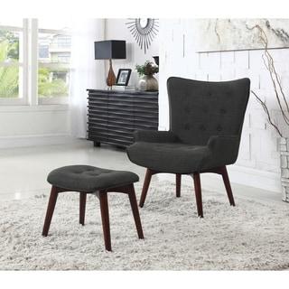 Best Master Furniture Asphalt Arm Chair And Ottoman