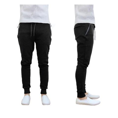 Galaxy By Harvic Men's Tech Fleece Jogger Sweatpants Lounge Active Slim Fit
