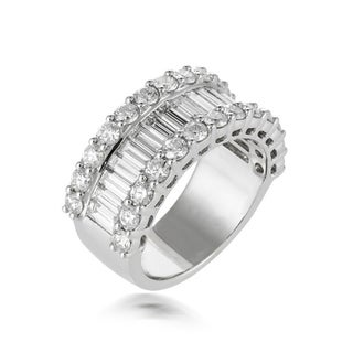 White Gold Diamond Wedding Band features 3.50 Carat of Diamonds
