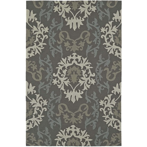 Damask Taupe Rug: Shop Addison Venice Damask Silver/Taupe Indoor/Outdoor