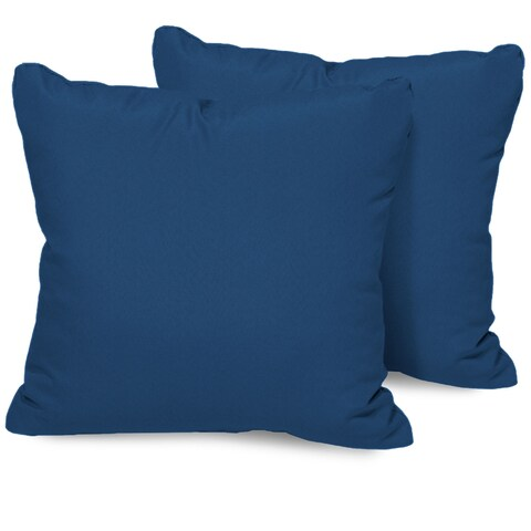 Navy Outdoor Throw Pillows Square Set of 2