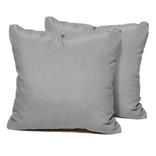 Grey Outdoor Throw Pillows Square Set of 2