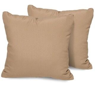 Wheat Outdoor Throw Pillows Square Set of 2