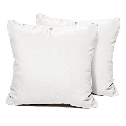Sail White Outdoor Throw Pillows Square Set of 2