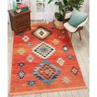 Nourison Tribal Decor Red Area Rug - 9'3 x 13'