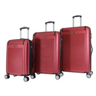 World Traveler Malibu 3-piece Hardside Lightweight Spinner Rolling Luggage Set With TSA Lock