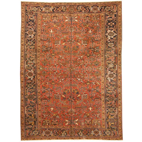 Handmade One-of-a-Kind Heriz Wool Rug (Iran) - 7'7 x 10'4