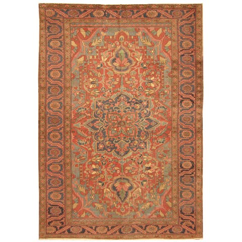 Handmade One-of-a-Kind Heriz Wool Rug (Iran) - 7'8 x 11'1