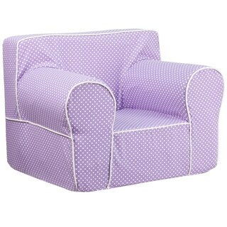 Claire Comfortable Children Purple Armrest Chair