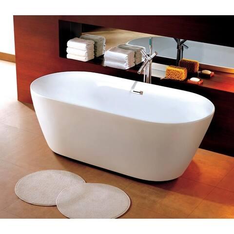 Dyconn Faucet Como Bathroom FreeStanding Contemporary Bathtub