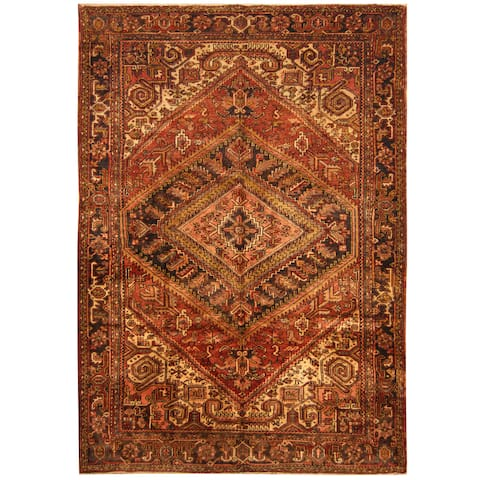 Handmade One-of-a-Kind Heriz Wool Rug (Iran) - 7'6 x 10'6