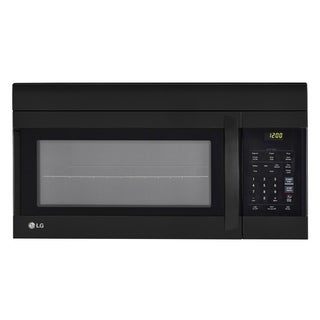 LG LMV1762SB - 1.7 cu.ft. Black Over-the-Range Microwave Oven