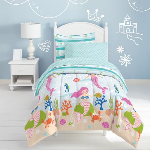 Dream Factory Mermaid Dreams 7-piece Bed in a Bag with Sheet Set