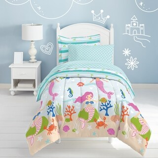 Dream Factory Mermaid Dreams 7-piece Bed in a Bag with Sheet Set (2 options available)