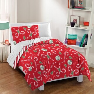 Dream Factory Candy Cane 3-piece Cotton Comforter Set (2 options available)
