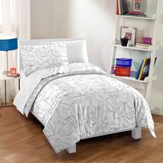 Dream Factory Cats 3-piece Cotton Comforter Set