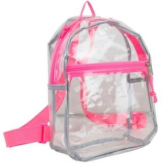 Eastsport 100% Transparent Clear Mini Backpack with Adjustable Straps