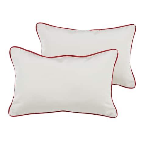 Humble + Haute Sunbrella Canvas Natural Indoor/Outdoor Corded Pillow Set of 2