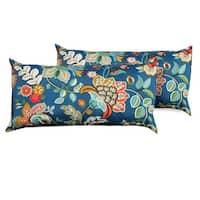 Wild Flower Outdoor Throw Pillows Rectangle Set of 2