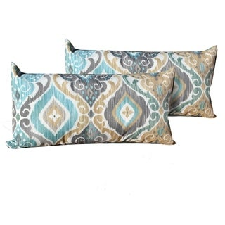 Persian Mist Outdoor Throw Pillows Rectangle Set of 2